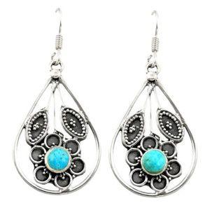 Jewelry - Southwestern Silver Turquoise Earrings